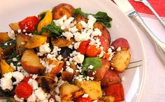 Grilled Veggie Salad with Arugula and Goat Cheese