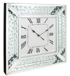 Diamonds of Mayfair mirror wall clock. The Floating Diamond Mirror Floating Crystal Wall Clock is not just a practical piece, but it is a stunning finishing touch to your home that is in keeping with a very high-end, premium look. With a mirrored frame that has a floating diamond effect running through it, it is guaranteed to twinkle away as the hands tick by. Dimensions: 50 x 50 x 5cm. Please take a look at our other items for sale. Product and postage discounts are available. Please…