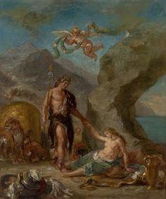Eugène Delacroix - L'Automne (O Outono) (The Fall or The Autumn, The Four-season series) - Baco e Ariadne. MASP - Museu de Arte de São Paulo Acervo http://masp.art.br.