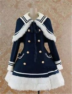 Gothic Lolita Woolen Coat Uniquely Coat Xmas Cosplay Costume XS-XL Custom-made | Clothing, Shoes & Accessories, Women's Clothing, Coats & Jackets | eBay!