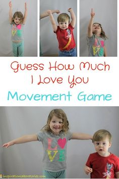 Play a Simon Says movement game inspired by Guess How Much I Love You by Sam McBratney. It's a fun way for toddlers and preschoolers to connect to the book. Preschool Movement Activities, Mother's Day Activities, Gross Motor Activities, Preschool Songs, Infant Activities, Preschool Ideas, Children Activities, Craft Ideas, Preschool Friendship