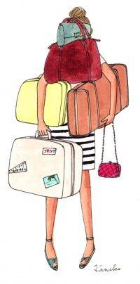 My little Paris - Kanako illustration Summer Travel Packing, Travel Tips, Packing Tips, My Little Paris, Buch Design, Diy Design, Travel Illustration, Fashion Sketches, Doodles