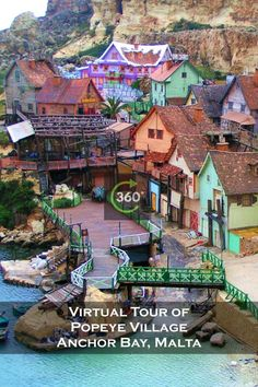 Popeye Village, also known as Sweethaven Village, is a group of rustic and ramshackle wooden buildings located at Anchor Bay in the north-west corner of the Mediterranean island of Malta, two miles from the village of Mellieħa.