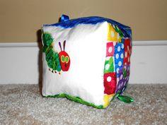 Hungry Caterpillar Sensory Cube by happyheartofmine on Etsy, $15.00