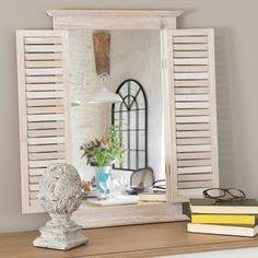 Espejo persianas de madera Al. 60 cm OLIVETTES