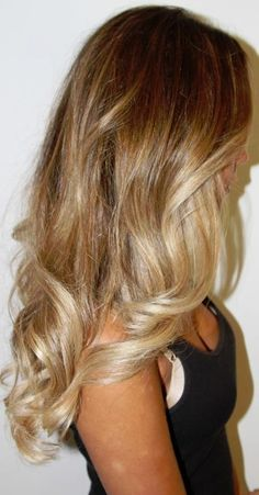 blonde hair... I love this coloring & that's about the length I'm looking for