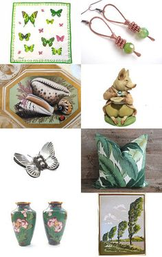 Garden Butterflies by Laura on Etsy--Pinned with TreasuryPin.com