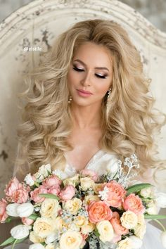 Best Ideas For Wedding Hairstyles : Featured Hairstyle: Elstile; Wedding Hair And Makeup, Bridal Makeup, Bridal Hair, Hair Makeup, Hair Wedding, Dream Wedding, Best Wedding Hairstyles, Bride Hairstyles, Pretty Hairstyles
