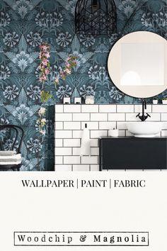 Wallpaper Mirk Mallard Botanical Wallpaper, Statement Wall, Eclectic Design, Mallard, Brickwork, Fabric Online, Fabric Painting, Designer Wallpaper, Wall Murals