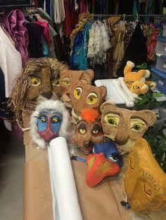 Lion King Jr.- masks I made