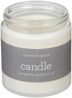 Common Good Bergamot Essential Oil Small Soy Candle