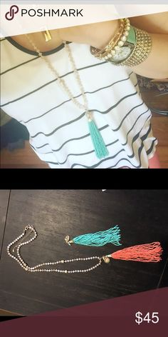Premier Designs Sway necklace Beautiful premier Designs necklace with two tassels to switch out Jewelry Necklaces