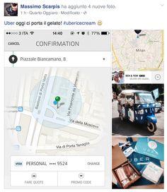 Uber e #gelato #smm #socialcasehistory