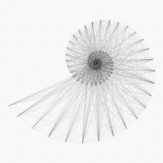 One of my studies of the Fibonacci sequence, - line drawing on paper. A version with needles and thread ...