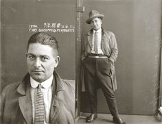 Mugshots from the 1920s: Fiori Guiseppe, 1924. Safebreaker.