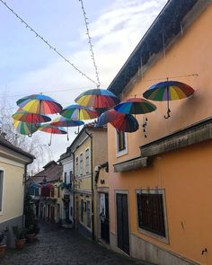 • Prismatic •📍Szentendre, Hungary 🇭🇺 #mileswithvibes [𝔽𝕒𝕔𝕥: Hungarian names are regulated by law: Parents are subject to a naming law when it comes to choosing what to call their children. Names must come from a pre-approved list] #budapesthungary #szentendre #hungarianvillage #umbrellastreet #narrowstreets #budapest #budapesttravel #danuberiver #topeuropephoto #hungary #visithungary #visitbudapest #hellobudapest #europetravel #travelblog #travelbug #borntotravel Visit Budapest, Budapest Travel, Budapest Hungary, Travel Around The World, Around The Worlds, Umbrella Street, Children Names, Themed Photography, Danube River