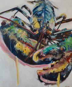 YD Lobster, oilon canvas 120cm x 100cm