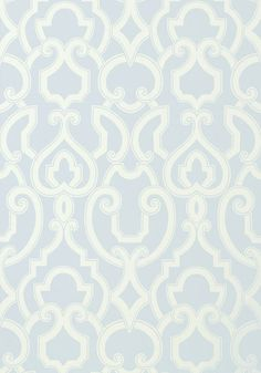 Royal #wallpaper in #aqua from the Artisan collection. #Thibaut