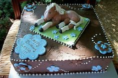 horse-cakes- (Chocolate frosting)