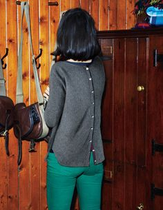 I've spotted this @BodenClothing Cashmere Button Back Sweater