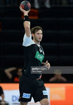 Uwe Gensheimer of Germany in action during the international friendly match between Germany and Switzerland at the Ratiopharm Arena on September 21, 2014 in Ulm, Germany.