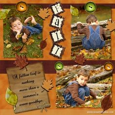 fall scrapbook layouts | Fall Layouts | Scrapbook MAX! Digital Scrapbooking Software
