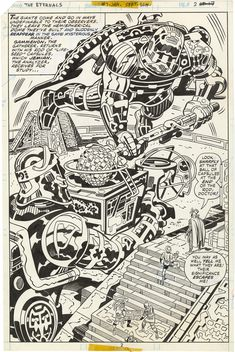 Gallery of Comic Art by Jack Kirby : The Eternals, Issue 7, Page 2 : What if Kirby