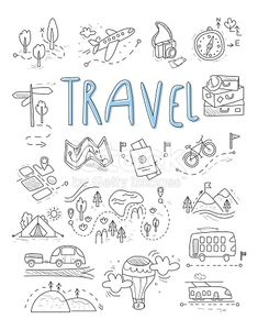 Download this Travel Camping Icons In Doodle Style Great Set vector illustration now. And search more of iStock's library of royalty-free vector art that features 2015 graphics available for quick and easy download.