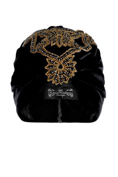 Luxury Black Velvet Turban with Bold Exotic by TheFHBoutique, £35.00