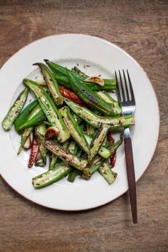 blistered okra with cumin and garlic 1 v3( no butter)