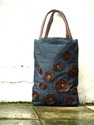 tote bag made from old jeans - Google Search