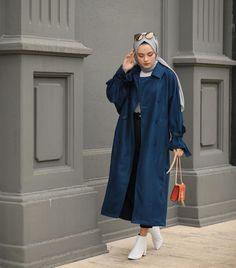 Stylish Hijab, Casual Hijab Outfit, Hijab Chic, Street Hijab Fashion, Muslim Fashion, Fashion Outfits, Hijab Stile, Hijab Trends, Modest Wear