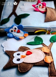 DIY and Crafts. Easy to Make Felt Quiet Book : HowDoesShe Quiet Book – Patterns now AVAILABLE!