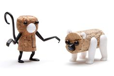 MONKEY + BEAR  The collectable animal parts bring bottle corks to life at any dinner party. available in six designs: bear, buffalo, bunny, crow, deer and monkey,  each package includes the body parts required to make one 'corker'.