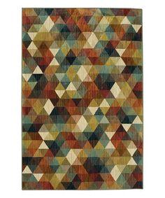 Love this Red & Blue Geometric Studio Diamonte Rug on #zulily! #zulilyfinds
