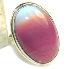 $42.25 Unique Botswana Agate Sterling Silver ring s. 7 1/2 at www.SilverRushStyle.com #ring #handmade #jewelry #silver #agate