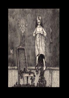 Phantasmagoria, John Kenn Mortensen illus for Deadfall Hotel, Centipede Press