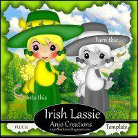 Irish Lassie Template Cu/Pu