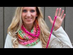 DIY Tutorial - Left Hand - How to Finger Crochet Very Easy Simple Infinity Scarf Cowl Beginners. Donna Wolfe from Naztazia . shows you to finger crochet an extremely easy infinity scarf for beginners. You do not need any crochet hook for this one. Arm Knitting, Knitting Socks, Knitting Patterns, Finger Crochet, Easy Crochet, Free Crochet, Crochet Scarves, Crochet Yarn, Finger Knitting Projects