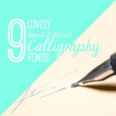 9 calligraphy fonts