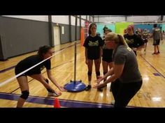 "To dig effectively, players must get their hips under the ball. Two-time Olympian Cilene Drewnick, who played for the Brazil national team from 1983 to 1997, trains her players to do this using the ""elastic digging"" drill. She runs an elastic cord between 2 poles to show players how low they nee"