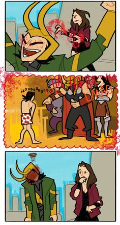 Avengers || Its a good thing for Loki that wanda didn't join in until after Manhattan - Part 2