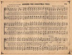 Vintage Graphic – Christmas Sheet Music - May try to print on full sheet, then cut down to gift tag size....