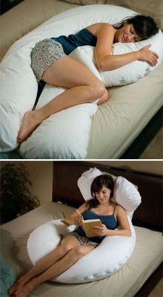 I am so getting this pillow! It looks so comfy. :-)  Full Body Pillows - U Shaped Body Pillow - Body Length Pillows