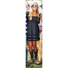 Navy blue patterned baby doll dress Printed navy blue baby doll dress with built in slip! Adorable paired with boots or wedges, color scheme for summer or fall! Worn only once by owner! Dresses Long Sleeve