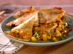 Cowboy Chipotle Mango Quesadillas recipe from Grill It! with Bobby Flay via Food Network