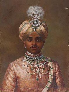 Royal collections of the maharajas  Maharaja Sir Sri Krishnaraja Wodiyar IV Bahadur of Mysore, 1906
