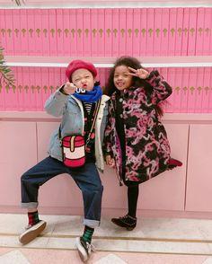 Korean kid models Lee Harang and Carla