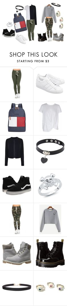 """Untitled #25"" by zombielover889 ❤ liked on Polyvore featuring adidas Originals, Tommy Hilfiger, MINKPINK, Maison Margiela, Vans, Bling Jewelry, Timberland, Dr. Martens and Humble Chic"