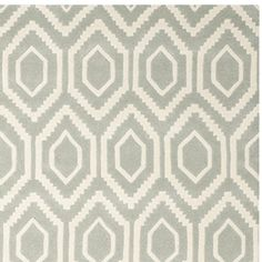 Safavieh Chatham Collection CHT731E Handmade Grey and Ivory Wool Area Rug, 8 feet by 10 feet (8′ x 10′)
